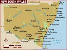 Map of New South Wales