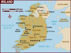 Map of Republic of Ireland